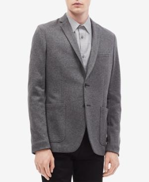 Calvin Klein Men's Slim-fit Douglas Jacket In Grey Duo Htr