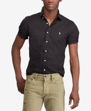Polo Ralph Lauren Men's Classic Fit Twill Cotton Shirt In Polo Black