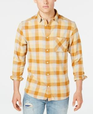 Quiksilver Men's Basic Fly Flannel Shirt In Inca Gold