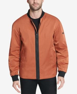 Dkny Men's Utility Bomber Jacket, Created For Macy's In Orange
