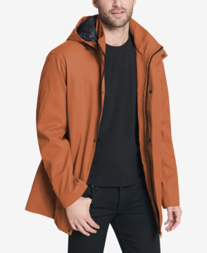 Dkny Men's Big & Tall All Man's Parka With Detachable Hood, Created For Macy's In Orange