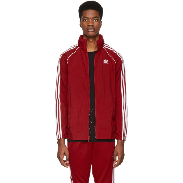 9bc03a9a ADIDAS ORIGINALS. Adidas Men's Originals Adicolor Superstar Track Jacket in  Red
