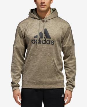 Adidas Originals Adidas Men's Team Issue Heathered Fleece Hoodie In Trace Cargo