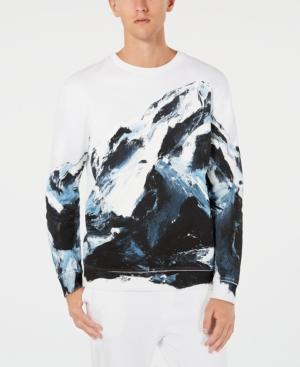 Hugo Boss Hugo Men's Mountain Graphic Sweatshirt In White / Multi