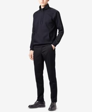 Hugo Boss Boss Men's Water-repellent Sweatshirt In Dark Navy