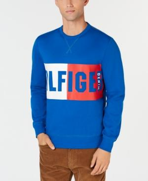 Tommy Hilfiger Men's Marcus Graphic Sweatshirt, Created For Macy's In Snorkel Blue