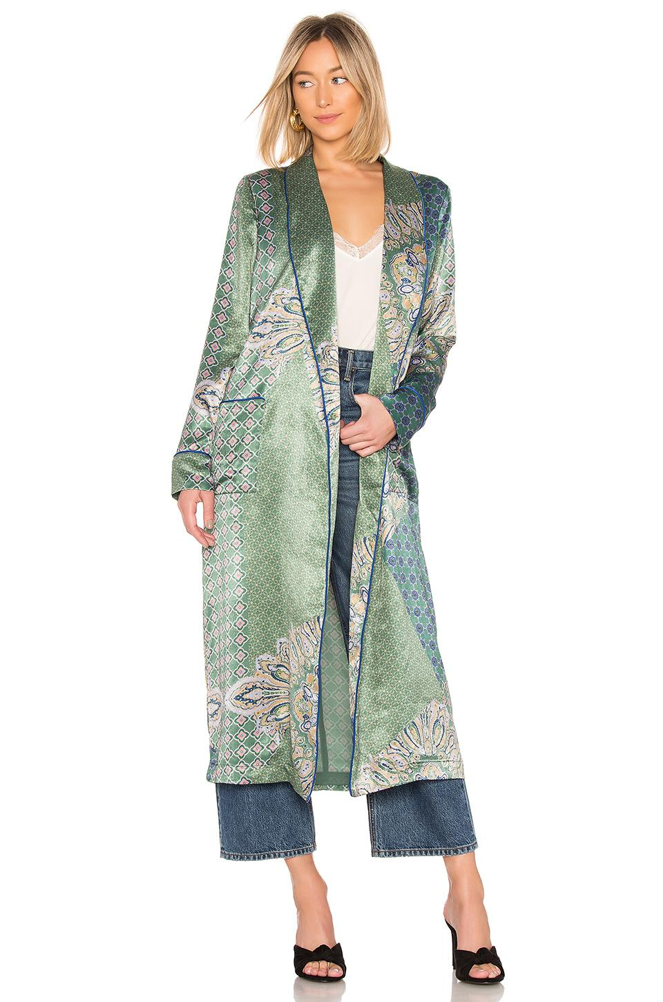 House Of Harlow 1960 X Revolve Edwin Robe In Moss Green Patchwork