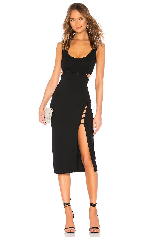 H:ours Samiah Dress In Black Noir