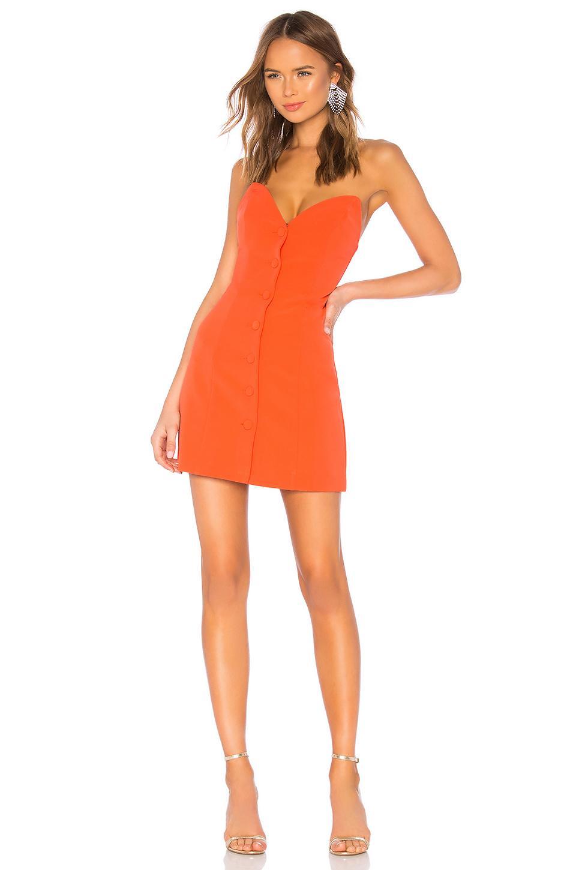 Nbd Mikaela Mini Dress In Orange