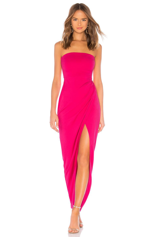 Nbd Lucilda Gown In Fuchsia. In Hot Pink