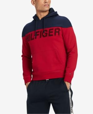 Tommy Hilfiger Men's Colorblocked Hoodie, Created For Macy's In Jester Red