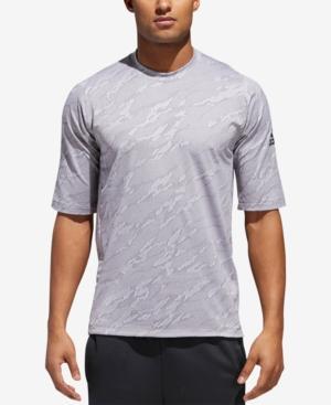 Adidas Originals Adidas Men's Jacquard Camo T-shirt In Grey