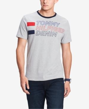 Tommy Hilfiger Men's Logo Graphic T-shirt, Created For Macy's In Grey Heather
