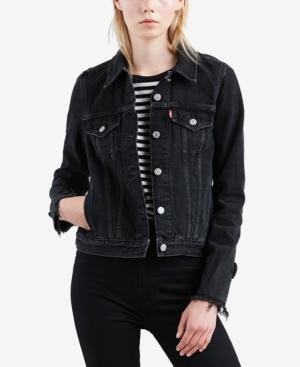 Levi's Original Denim Trucker Jacket, Created For Macy's In Black Bow