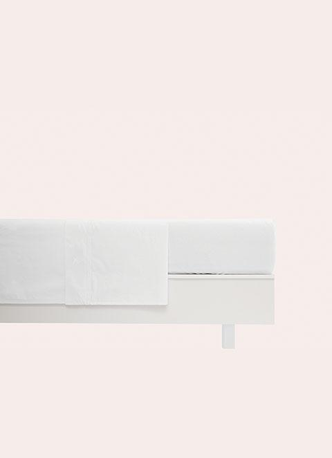 Hackett Classic Broadcloth Fitted Sheet 180x200 In Bright Wht