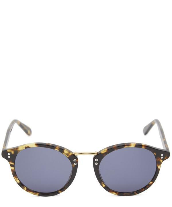 Krewe Taylor Gold-plated Sunglasses In White