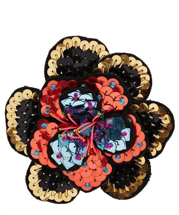 Etro Floral Brooch In White