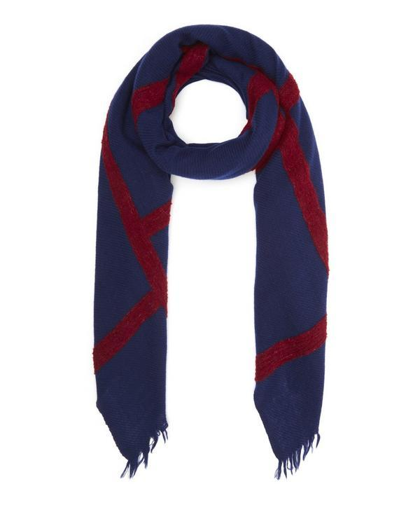 Inouitoosh Kathleen Wool Scarf In Navy
