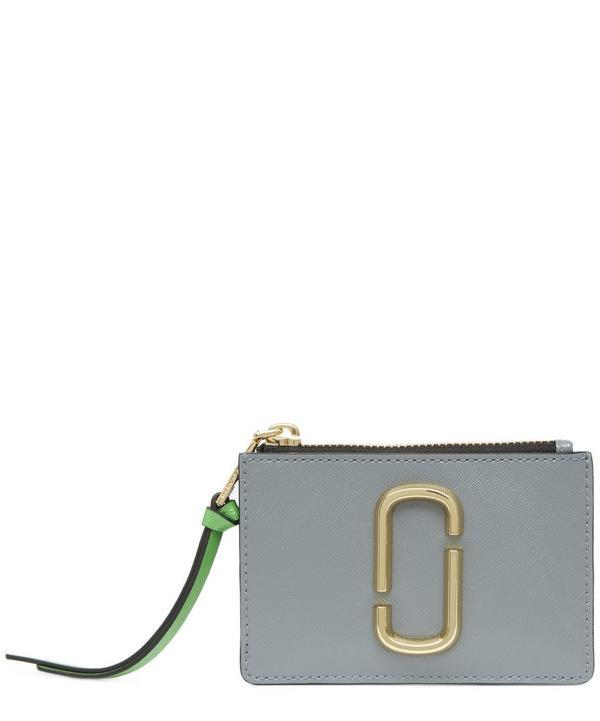 Marc Jacobs Vertical Zippy Continental Wallet In Grey
