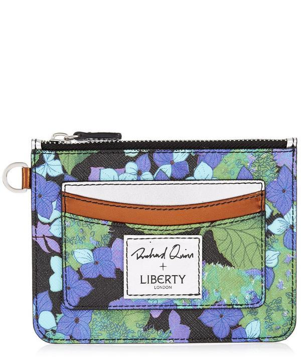 Liberty London Richard Quinn Hydra Card Pouch In Blue