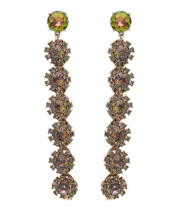 Lulu Frost Beam Crystal Drop Earrings In Purple