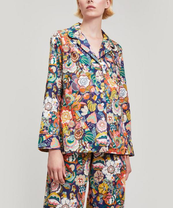 c4a3139469d Liberty London Gatsby Garden Tana Lawn Cotton Long Pyjama Set In White