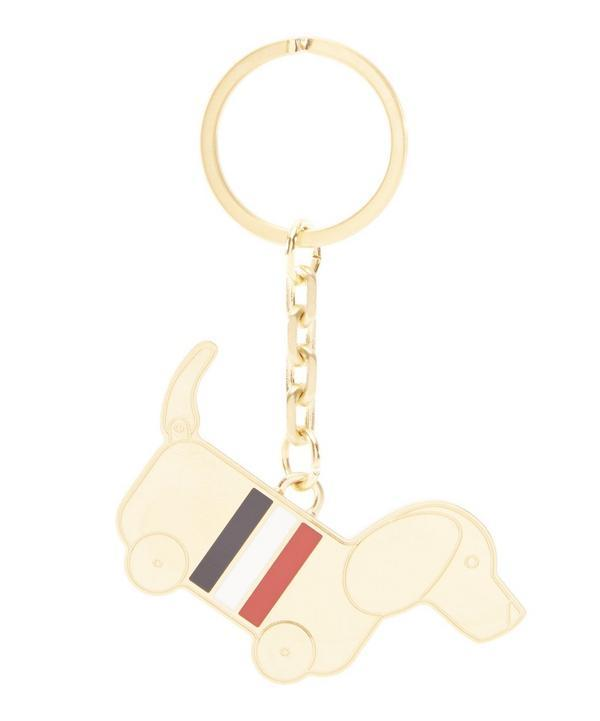 Thom Browne Hector Keychain In Gold