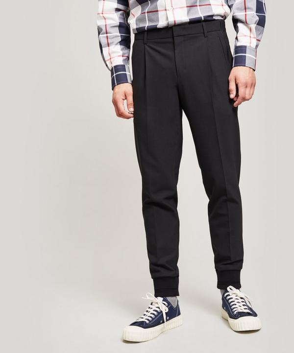 Wooyoungmi Jersey Side Zip Joggers In Black