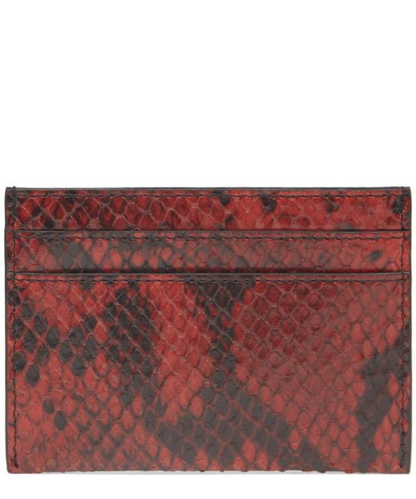 Dries Van Noten Snakeskin Card Holder In Red