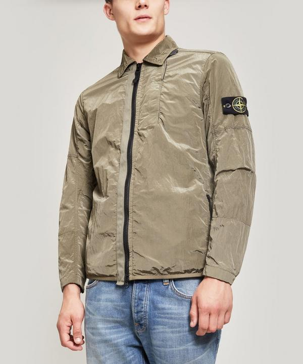 Stone Island Nylon Metal Zip Through Over-shirt In Green
