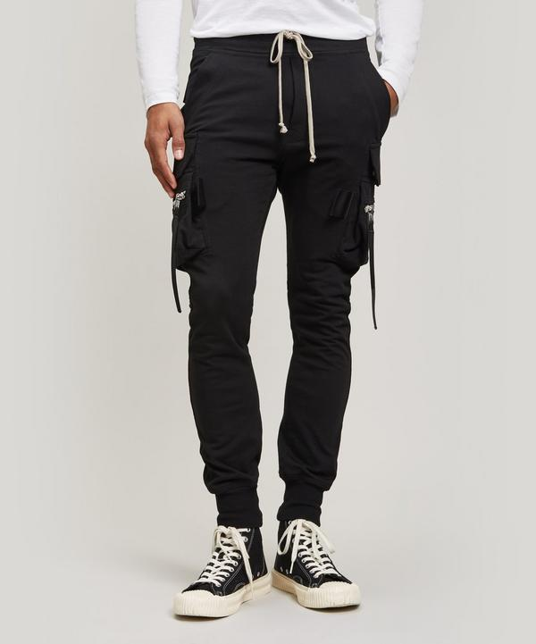 Rick Owens Cargo Joggers Trousers In Black