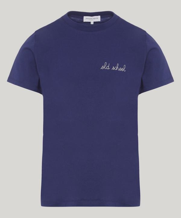 Maison Labiche Old School T-shirt In Navy