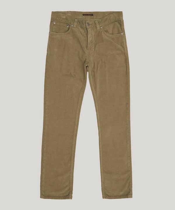 Nudie Jeans Grim Tim Velvet Trousers In Velvet Desert