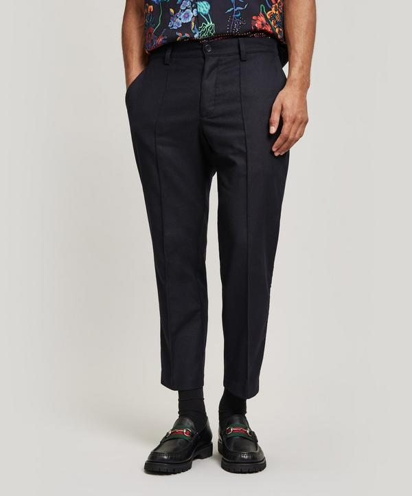 Ymc You Must Create Washed Flannel Trousers In Navy