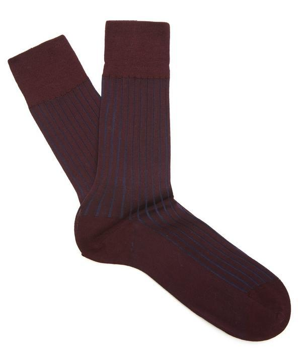 Falke Shadow Ribbed Ankle Socks In Red