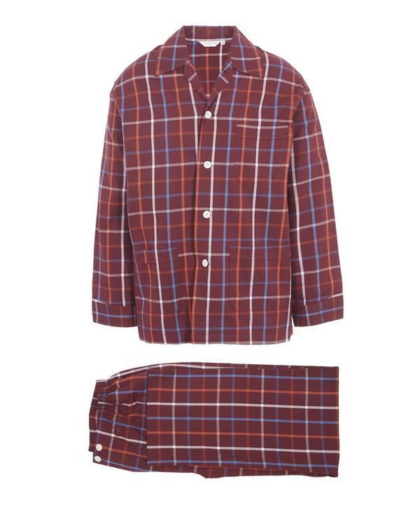 Derek Rose Ranga Check Pyjama Set S-xl In Red