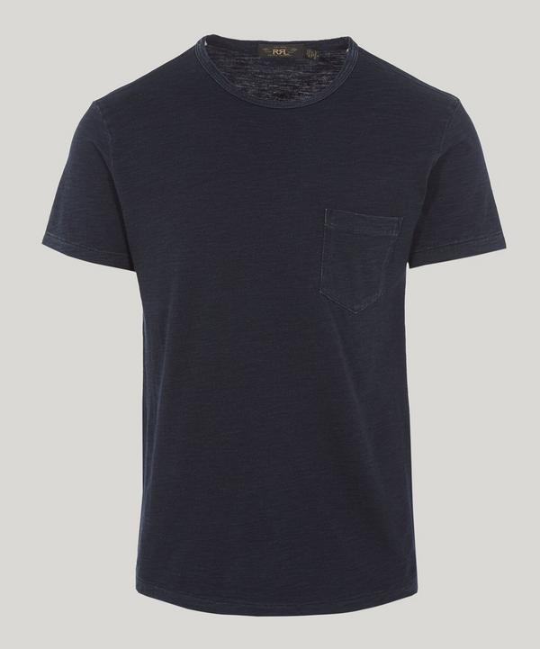 Rrl Pocket T-shirt In Rinsed Blue Indigo