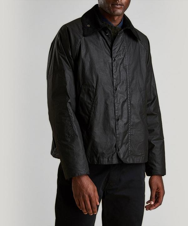 Barbour X Engineered Garments Graham High Neck Wax Jacket In Black