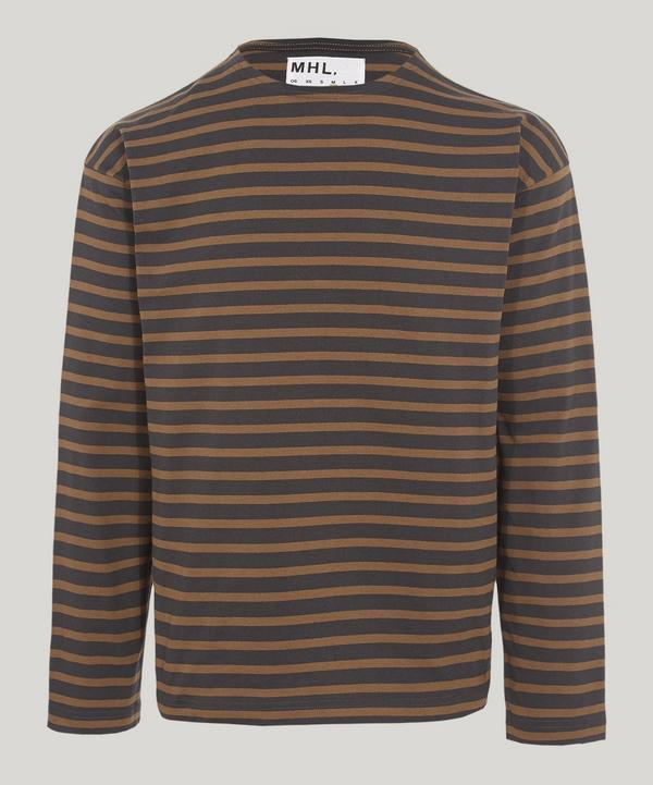 Margaret Howell Matelot Naval Stripe T-shirt In Grey