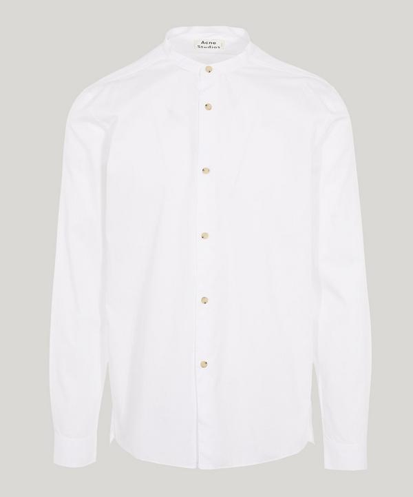 Acne Studios Pine Softpop Grandad Shirt In White