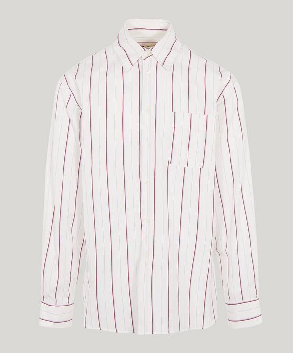 Marni Multi Stripe One Pocket Shirt In White