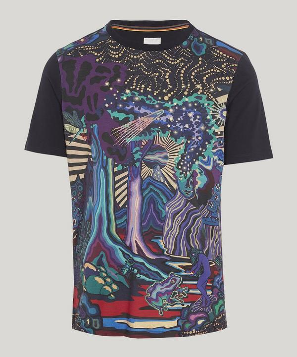 Paul Smith Psychedelic Front Print T-shirt In Navy / Multi