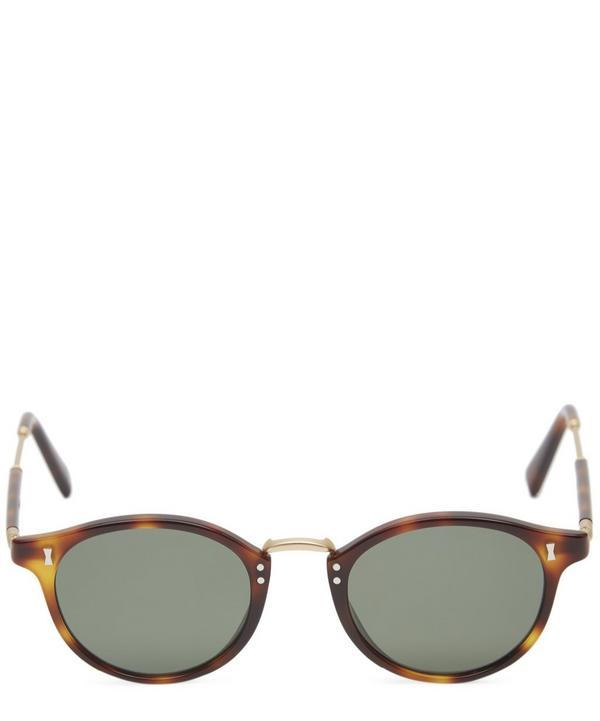 Cubitts Flaxman Round Acetate Sunglasses In Green