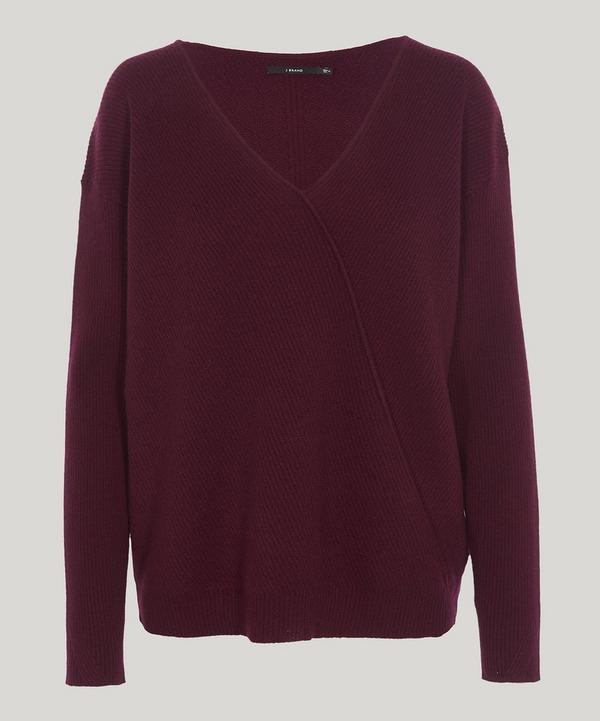 J Brand Loran Chevron Sweater In Pinot Noir