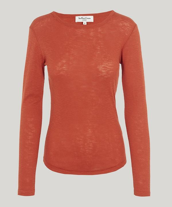 Ymc You Must Create Charlotte Long Sleeve T-shirt In Orange