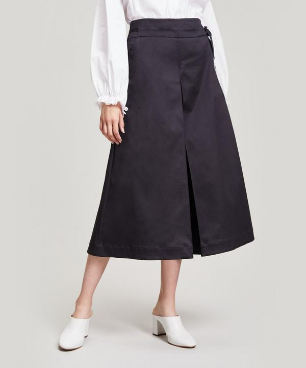 Palmer Harding Sundance Pleated Cropped Culottes In Black