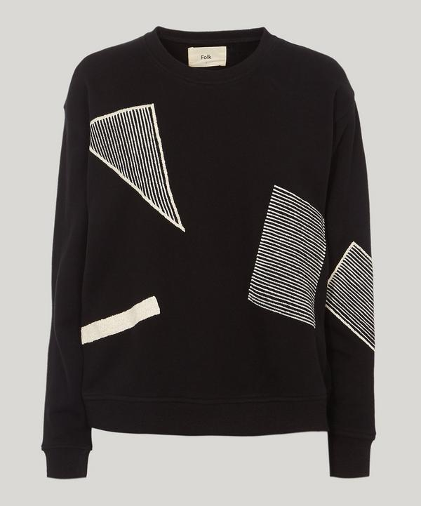 Folk Degree Graphic Shape Sweatshirt In Black