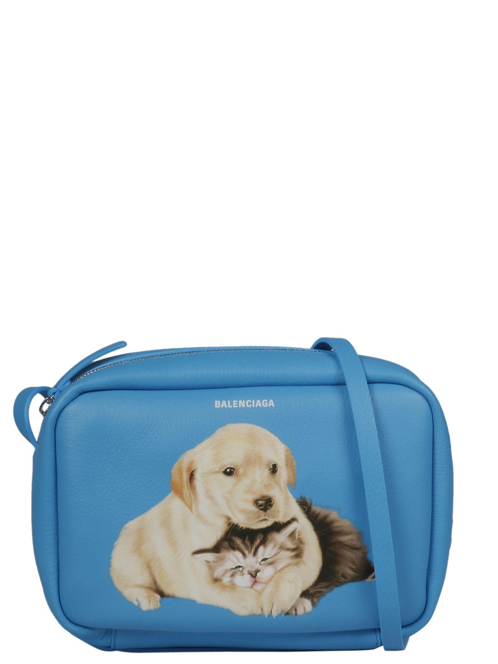 Balenciaga Puppy And Kitten Shoulder Bag In 4660