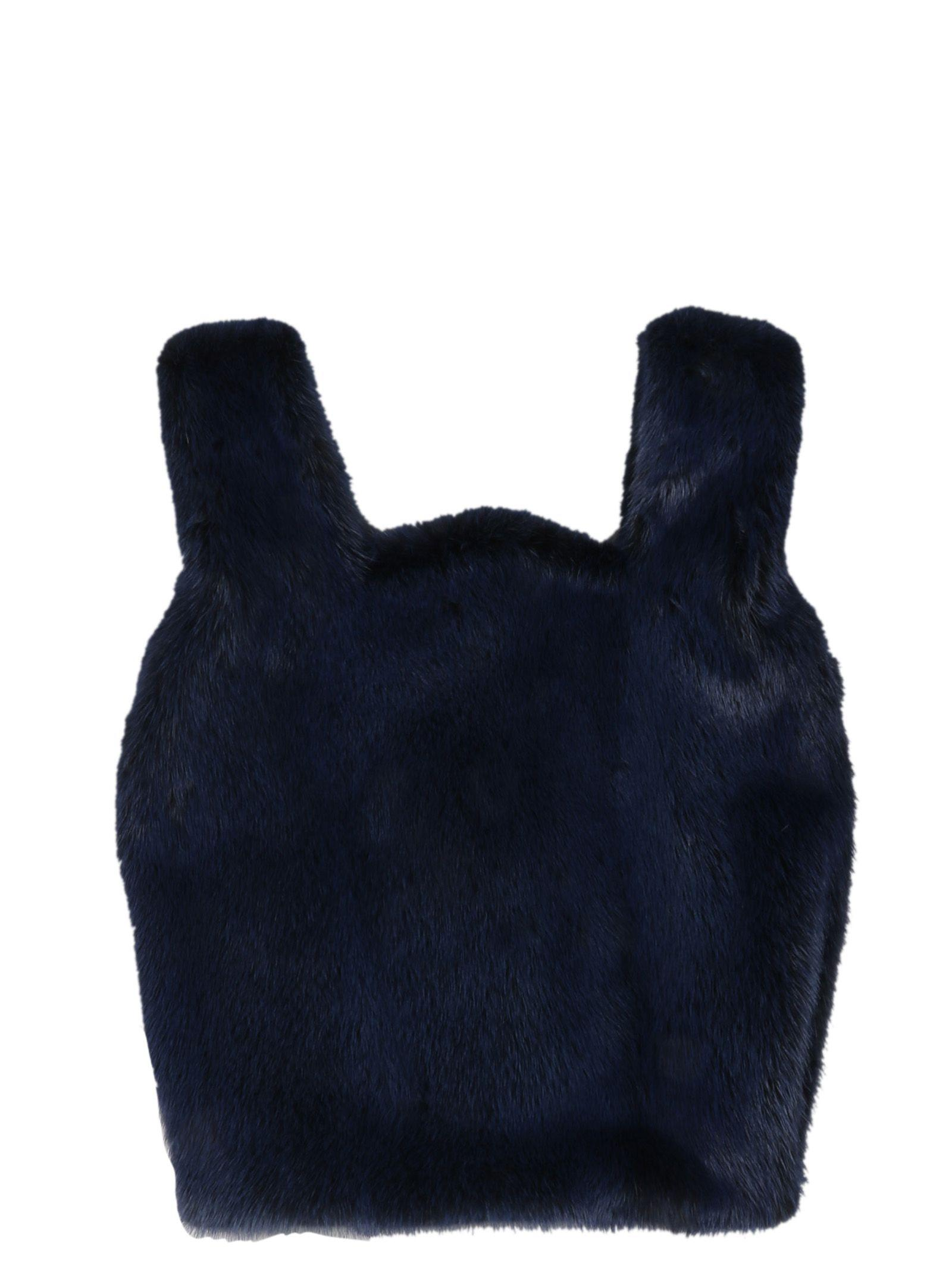 Simonetta Ravizza Furrissima Tote In Royal Blue