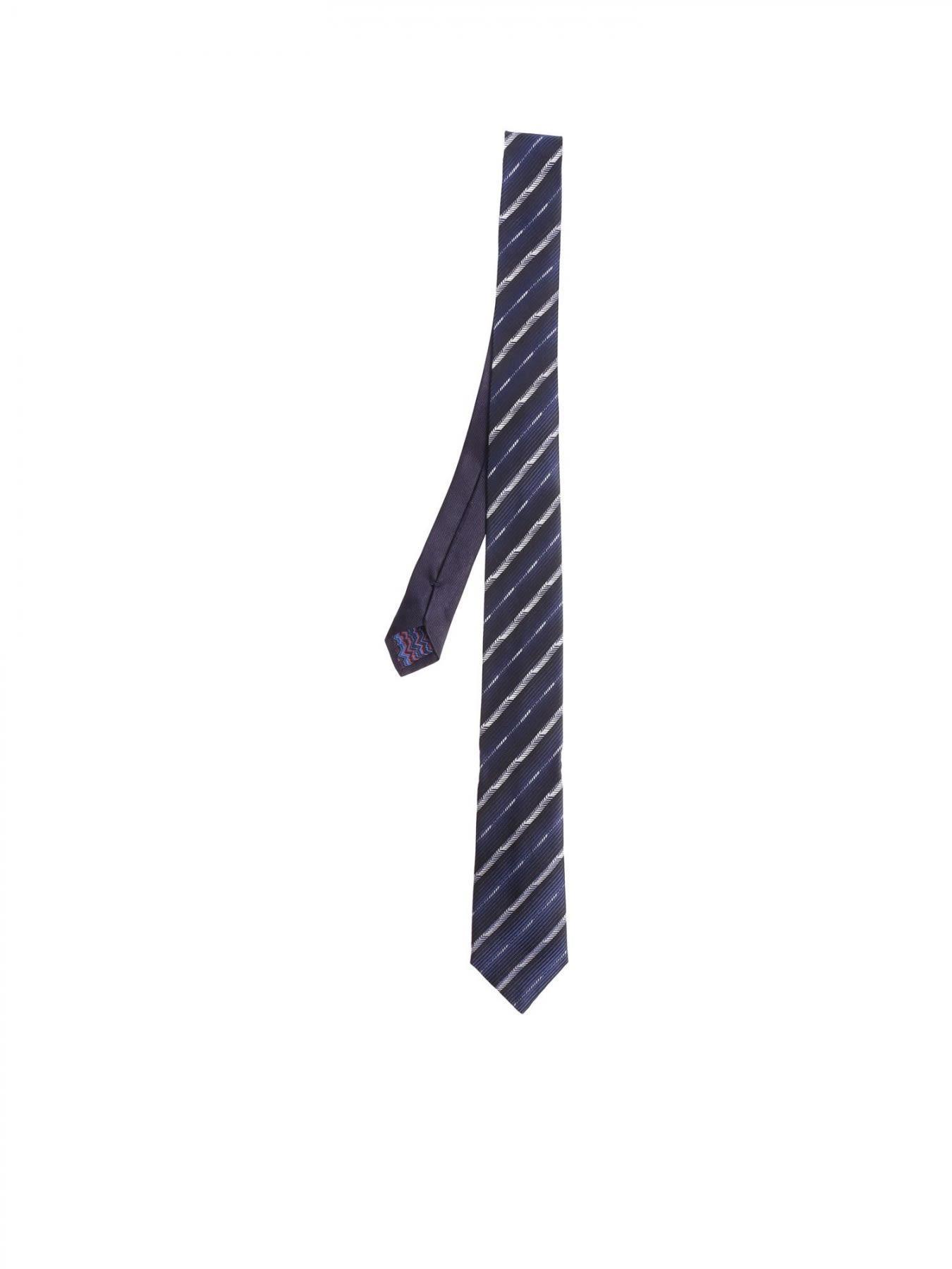 Missoni Wool And Silk Tie In Blue